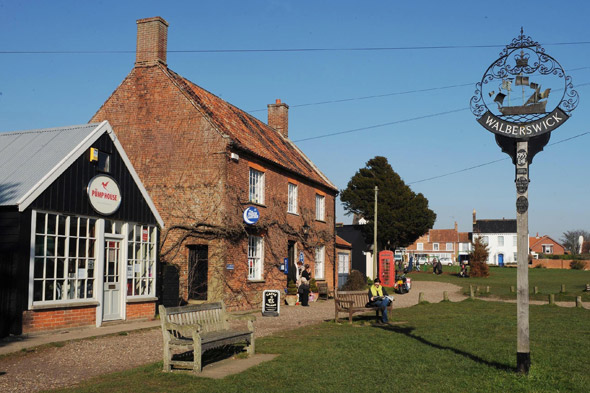 Which well-known TV sports personality is wowed by Walberswick?