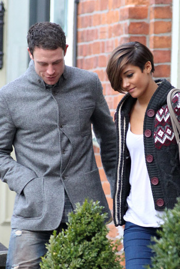Wayne Bridge and girlfriend Frankie Sandford