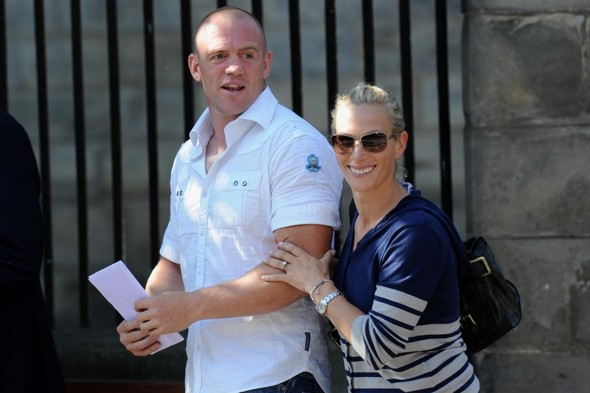 Zara and Mike boost Scottish tourism as they arrive for church rehearsal