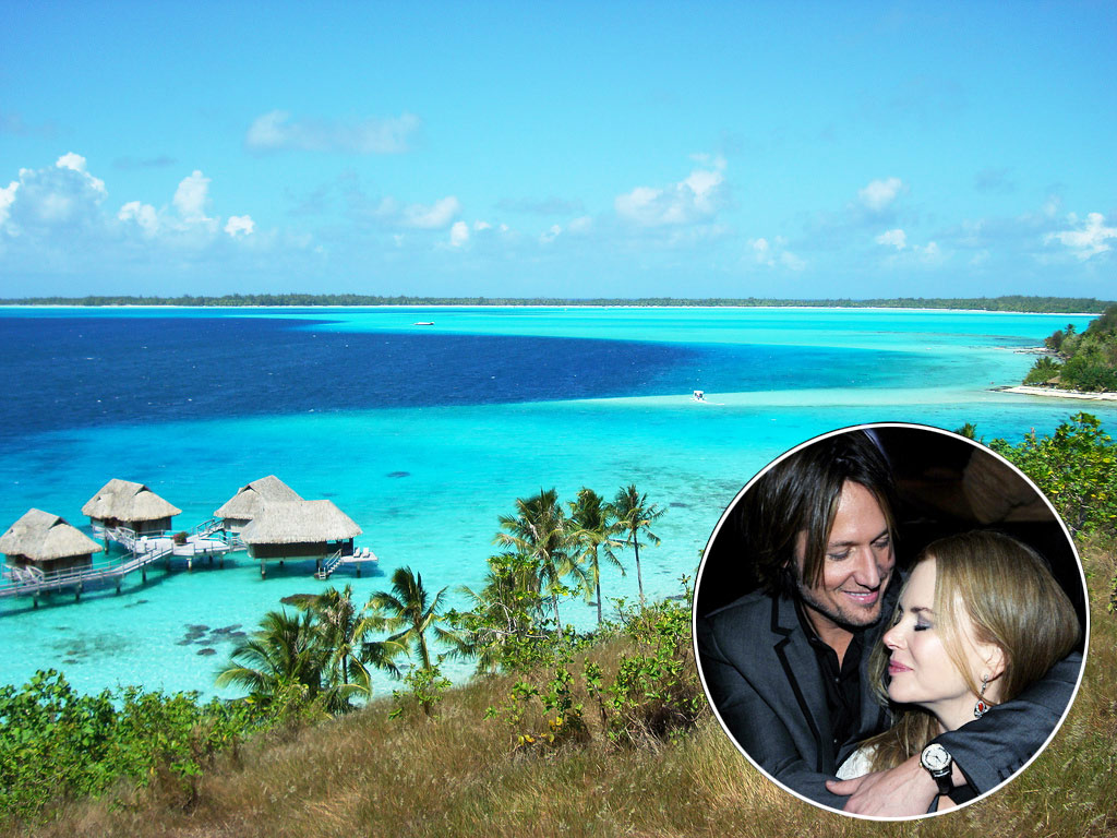 &lt;b&gt;Nicole Kidman and Keith Urban, Bora Bora Nui Resort &amp; Spa, Bora Bora, French Polynesia&lt;/b&gt;
