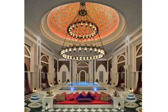Indulge in a spot of pampering in the huge spa at Jumeirah Zabeel Saray