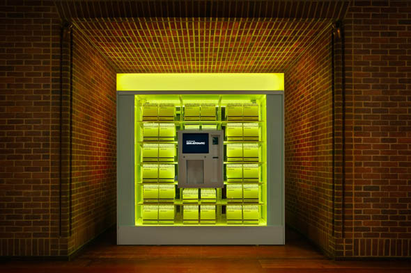 Make a luxury purchase from Hudson New York's vending machine
