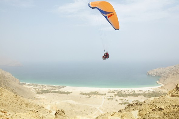 Glide through the air for your arrival at Six Senses Zighy Bay