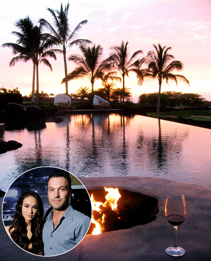 &lt;b&gt;Megan Fox and Brian Austin Green, Four Seasons Resort Hualalai, Hawaii&lt;/b&gt;