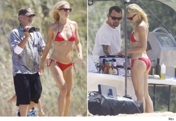 Gwyneth Paltrow in Sardinia