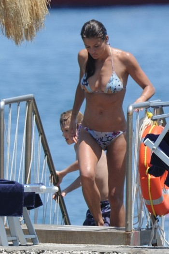 Helena Christensen in Ischia