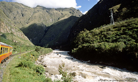 The Macchu Pichu train, South America