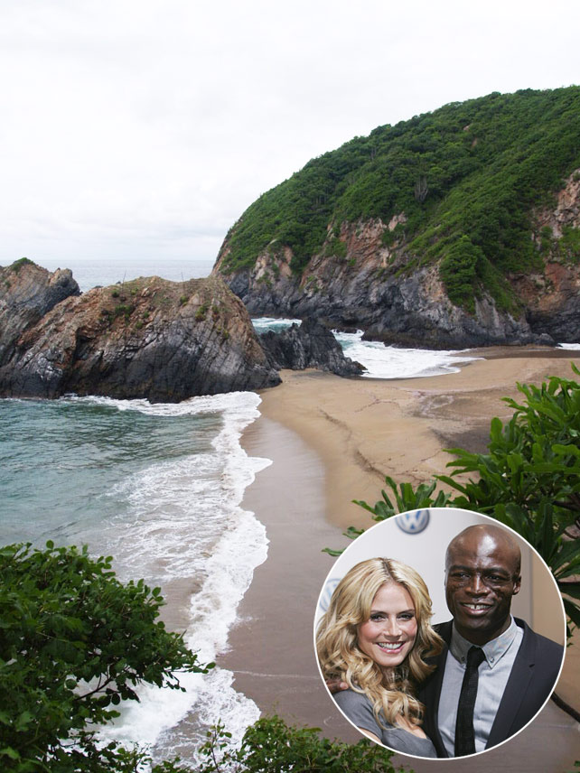 &lt;b&gt;Heidi Klum and Seal, El Careyes Beach Resort, Mexico&lt;/b&gt;