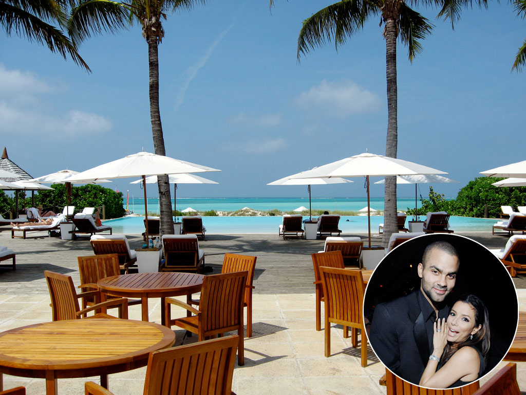 &lt;b&gt;Eva Longoria and Tony Parker, Parrot Cay, Turks and Caicos Islands&lt;/b&gt;