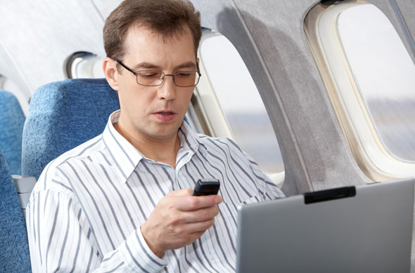 True or false? Electronic devices interfere with a plane's navigational system