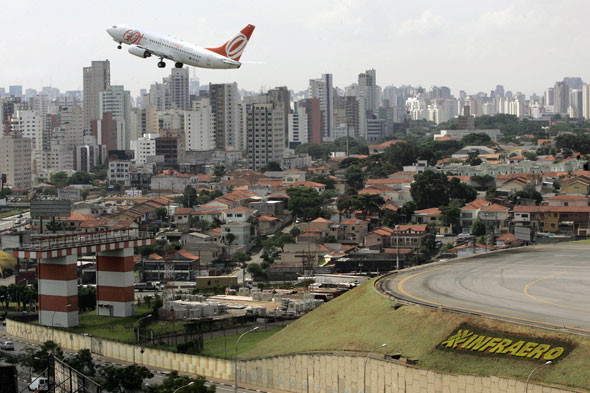 Congonhas International Airport in Sao Paulo. Airline workers are set to meet Monday 12 Dec 2011 to discuss possible strike.