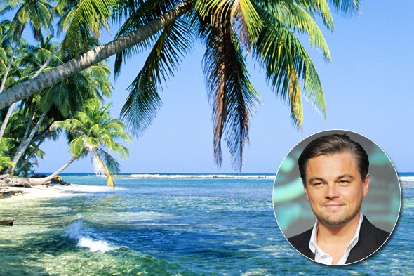 Leonardo DiCaprio, Blackadore Cay, Belize