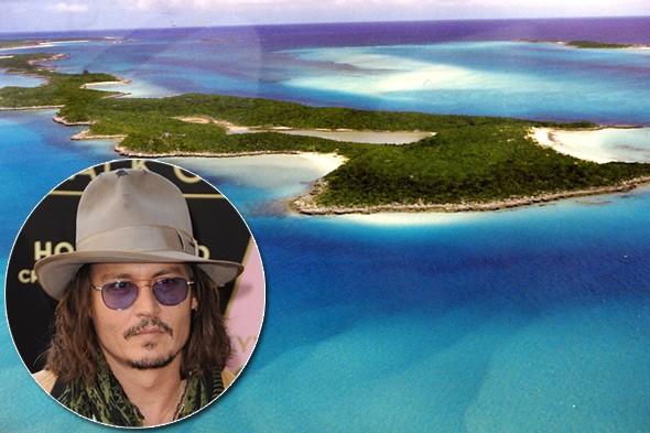 Johnny Depp, Little Halls, Pond Cay, Bahamas