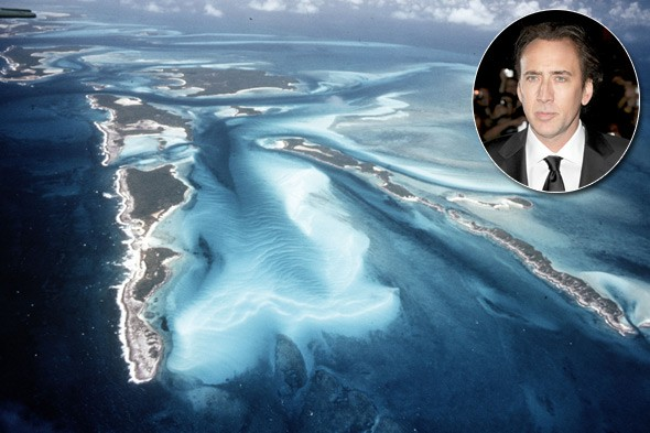 Nicholas Cage, Leaf Cay, Bahamas