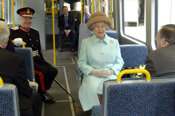 'I'm related to the Queen so I don't need a ticket.'