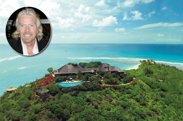 Sir Richard Branson, Necker and Mosquito Islands (BVI), Makepeace Island (Australia), World Project's Great Britain (Dubai)