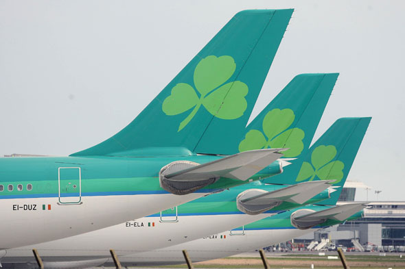 Which airline do these distinctive green tails belong to?