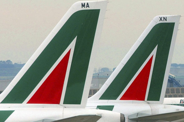 Who flies with these red and green tails?