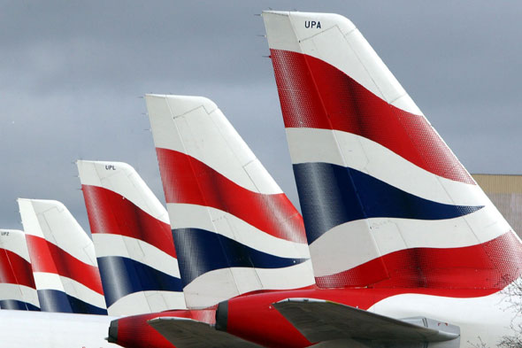 Which airline flies the union flag?