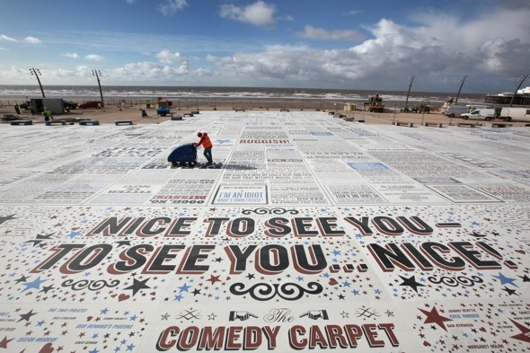 Blackpool's 'Angel of the North': £14m Comedy Carpet unveiled by the sea