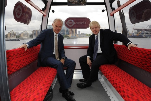 Boris unveils new London cable car for commuters