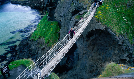 Recognise this rickety rope bridge?