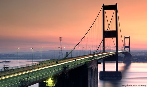 It's the Severn Bridge, Wales