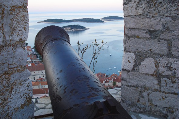 Watch the sunset from Hvar Town's fortress