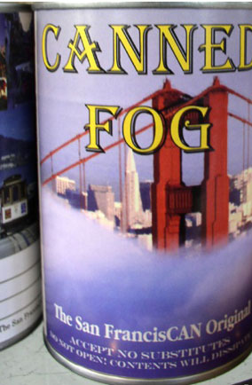 Canned fog, San Francisco