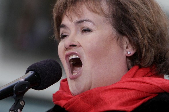 Susan Boyle has a mid-air meltdown