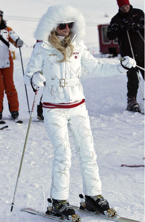 Paris Hilton in Gstaad, Switzerland