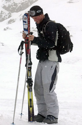 Prince Harry in Klosters