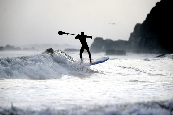 Winter surfing, Longsands, Tynemouth