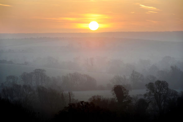 Sunrise, Upper Kennett Valley, Wiltshire