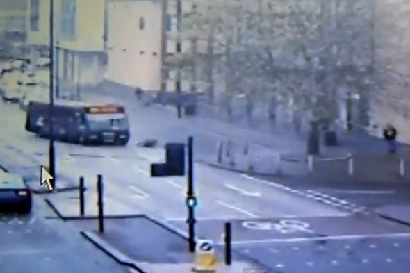Video: Bus driver jailed after deliberately knocking down cyclist in Bristol