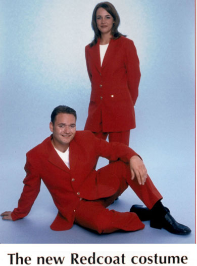 1998: new redcoat designed by Jeff Banks