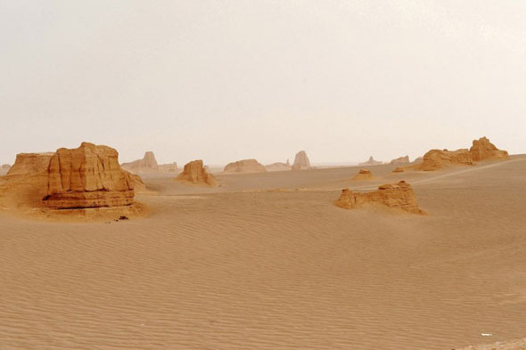 World's hottest place: Lut Desert, Iran