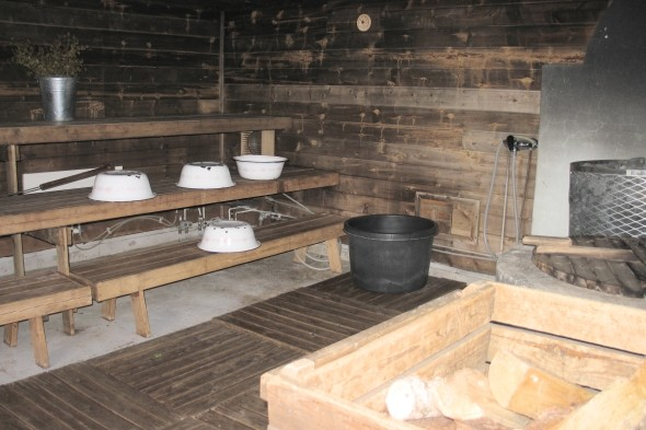 Get sweaty in a Finnish sauna