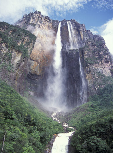 Where is the highest waterfall on earth?