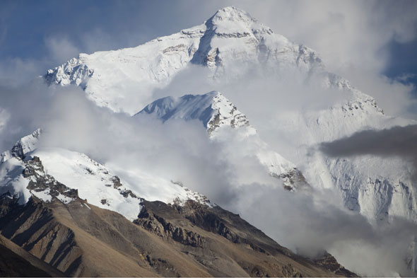 What's the world's highest mountain?