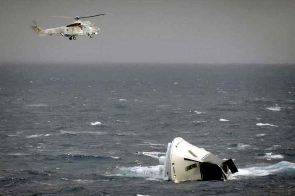 Helicopter rescue as superyacht sinks in Greece