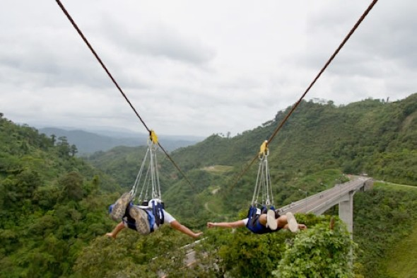 Traverse the world's longest zip line in South Africa