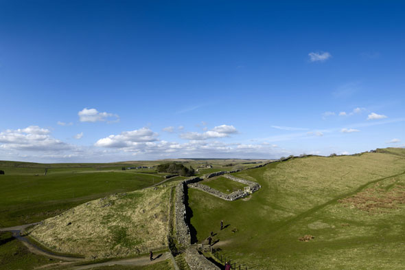Britain's answer: Hadrian's Wall, Northumberland