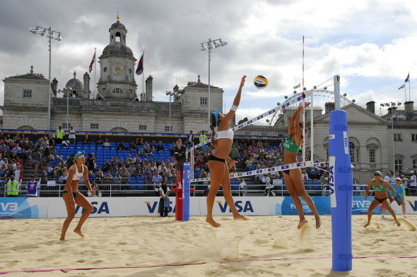 Where will the beach volleyball be held?