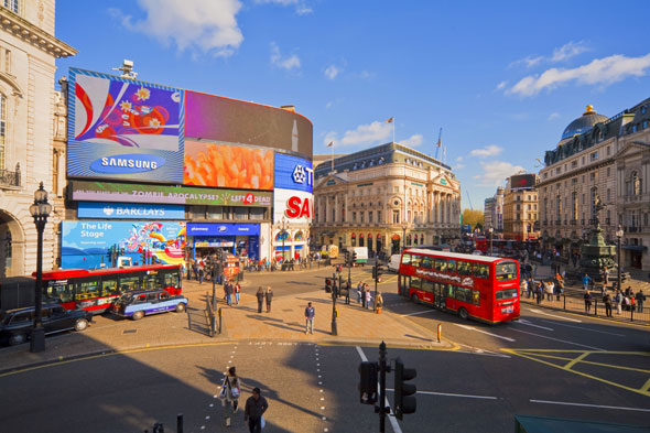 Britain's answer: Picadilly Circus, London