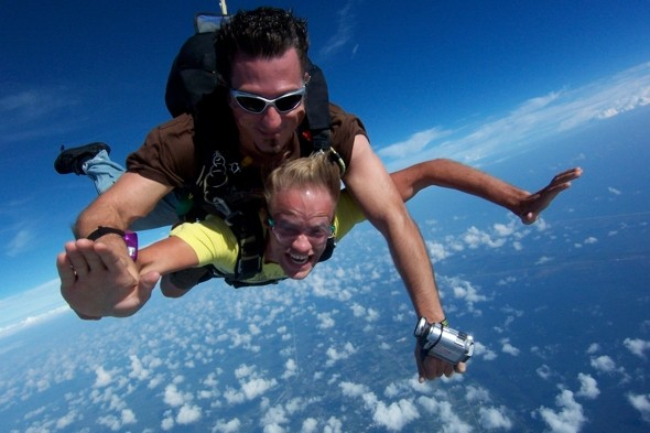 Do the world's highest tandem skydive in Orlando
