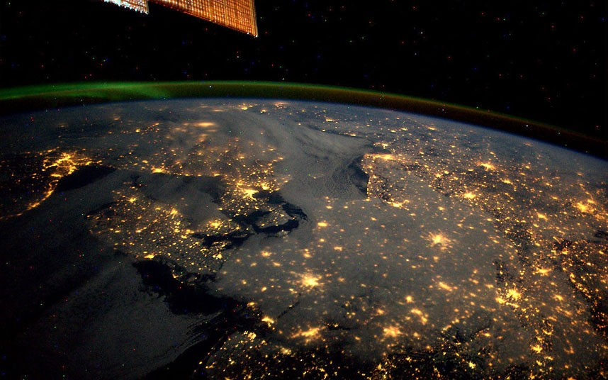Northern Europe by night