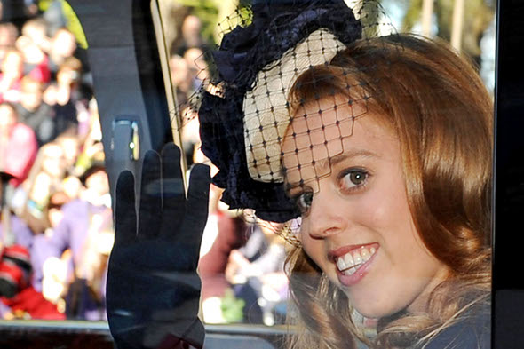 Princess Beatrice returns from her fourth holiday this year
