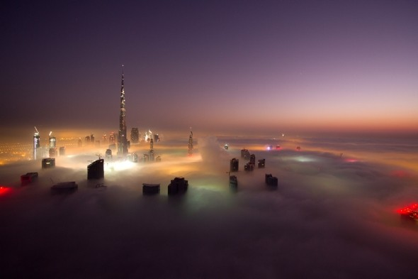 dubai1 - fog covered Dubai.