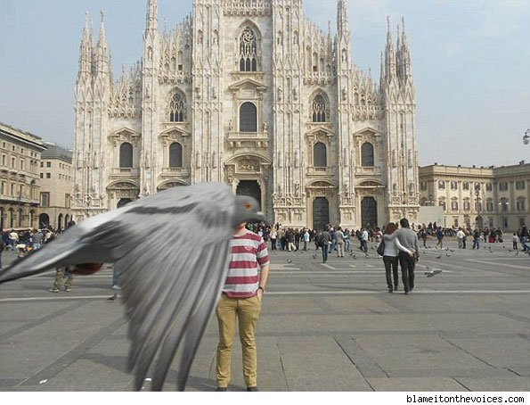 Birds' eye view of the Duomo, Milan